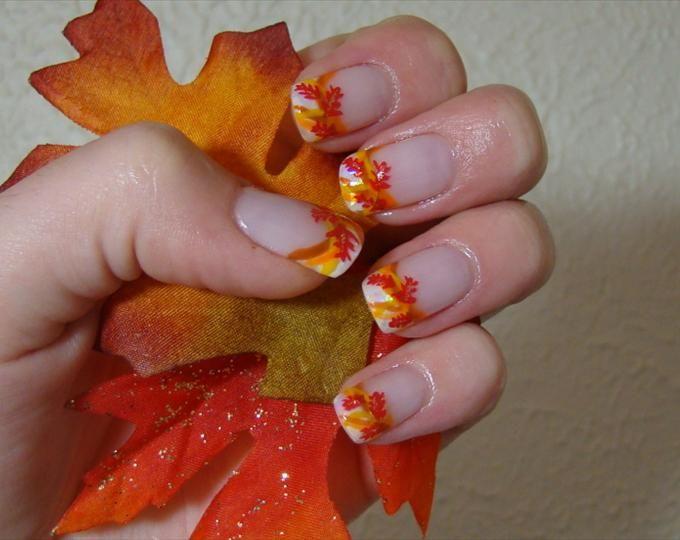 fall french nails   Nail art   Pinterest   French nails, Nail nail ...