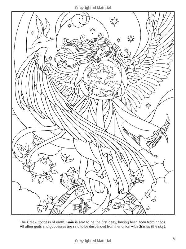 Goddesses Coloring Book Dover Coloring Pinterest Coloring