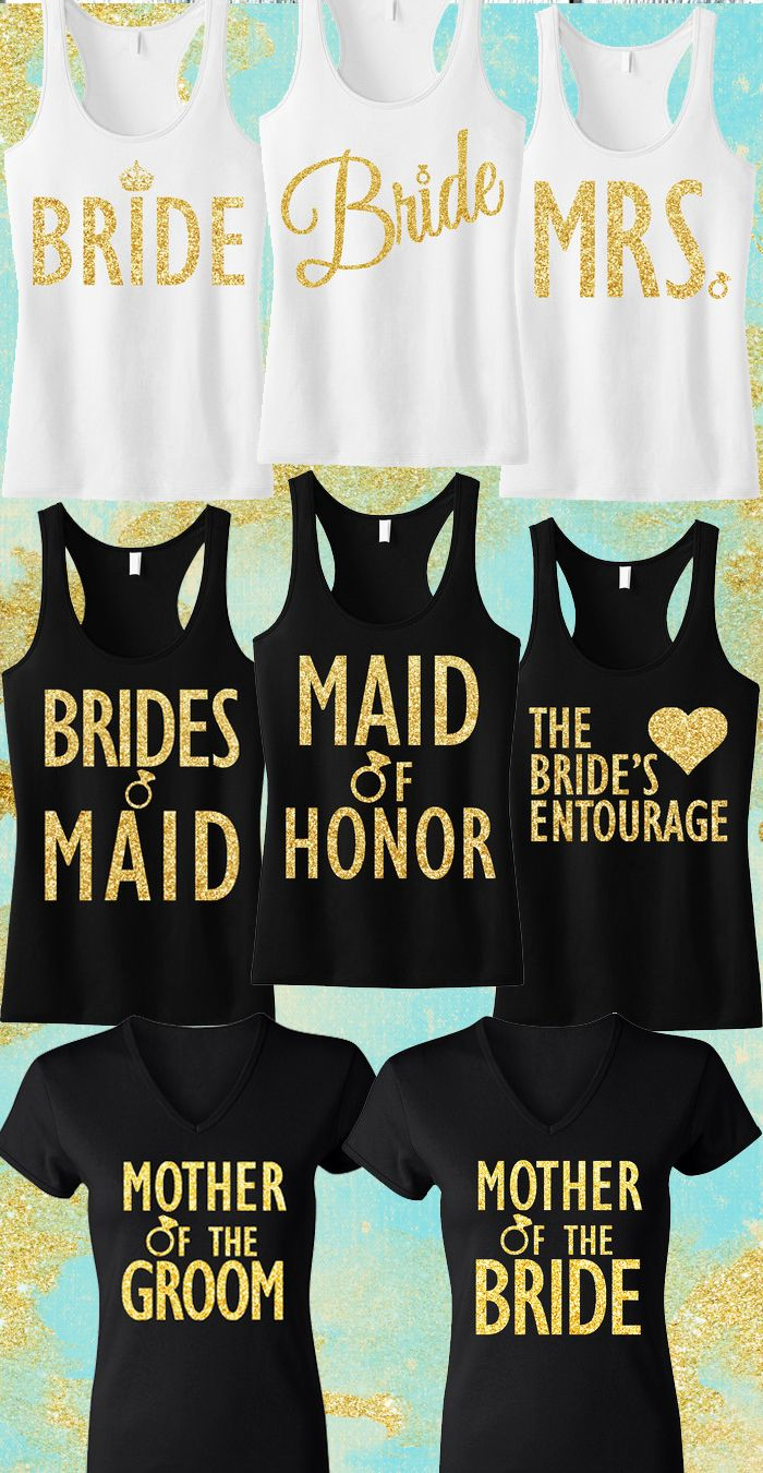 4cc0b0a6cd1fa9  GOLD GOLD GOLD!!  Wedding Tank Tops and Shirts for the whole