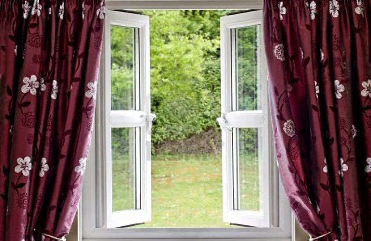 Open window with curtains blowing - Open Windows 70 Fresh Air Blowing Through Open Windows All Day
