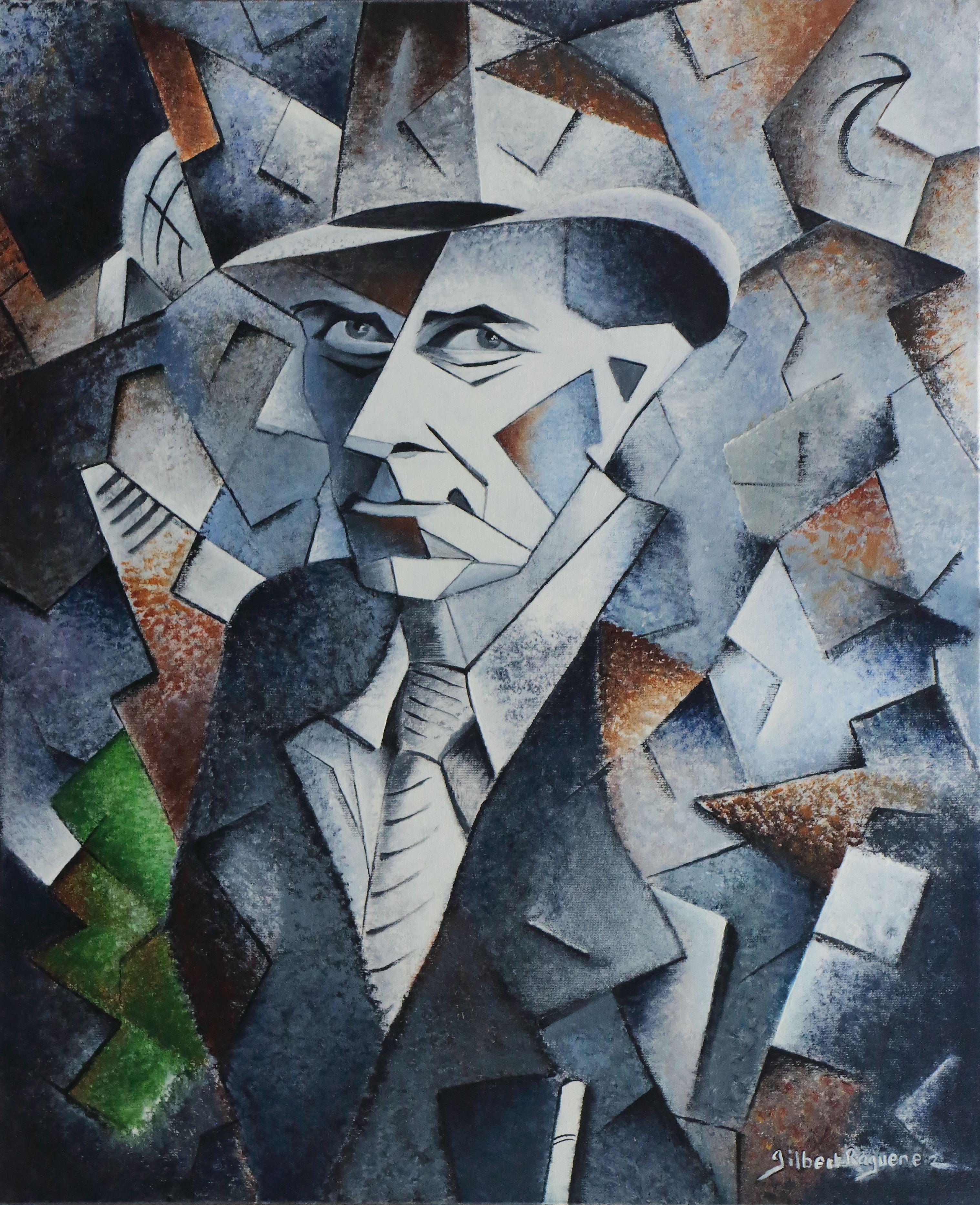 Hommage Georges Braque Huile Sur Toile, 73X60Cm