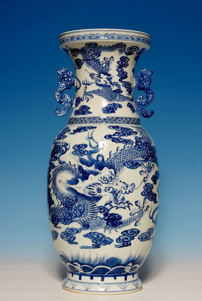 large chinese 18th c porcelain blue and white vase mared qianlong period wy074 dress. Black Bedroom Furniture Sets. Home Design Ideas