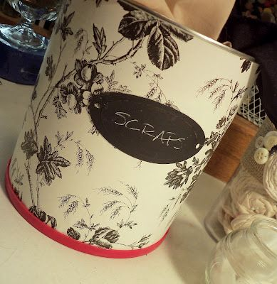 use contact paper to pretty up cans