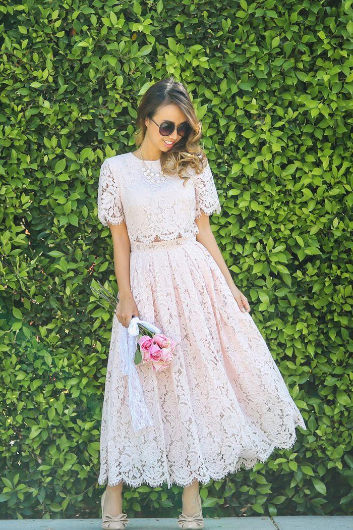 Blush Wedding Dress Petite : Dress lace prom asos blush my fashion