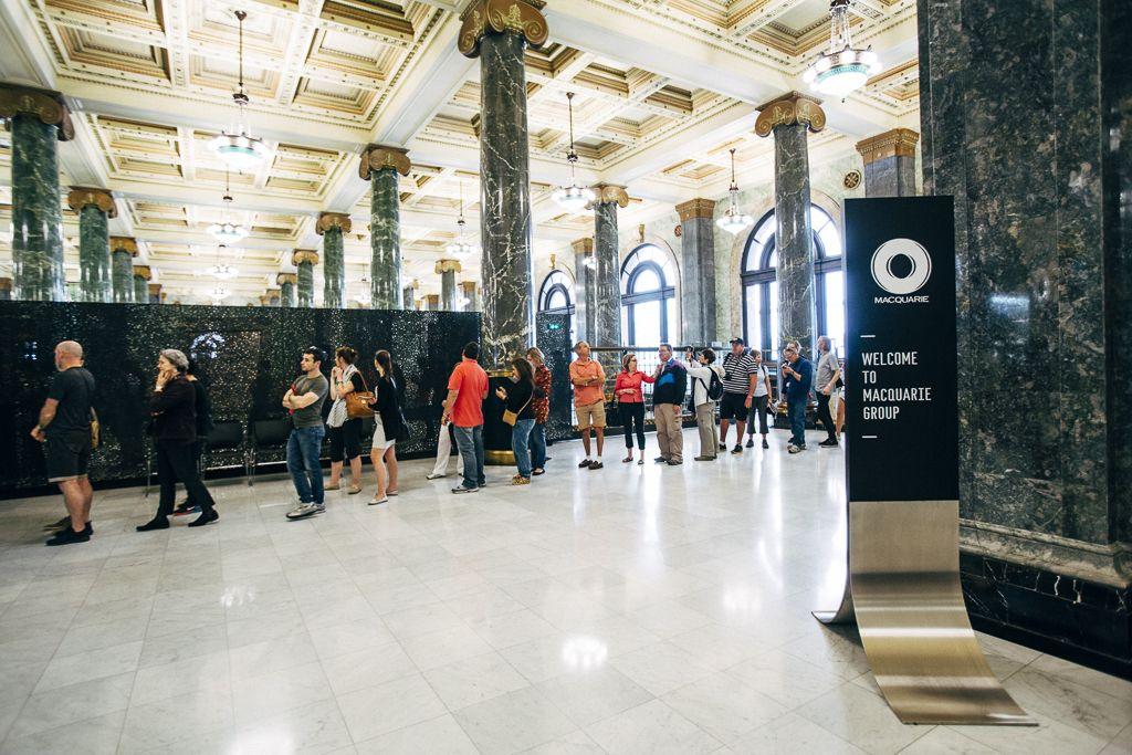 Sydney Open 2014 inside 50 Martin Place.   Photo © Haley Richardson for Sydney Living Museums .