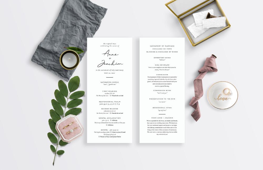 Pin On Catholic Wedding Programs