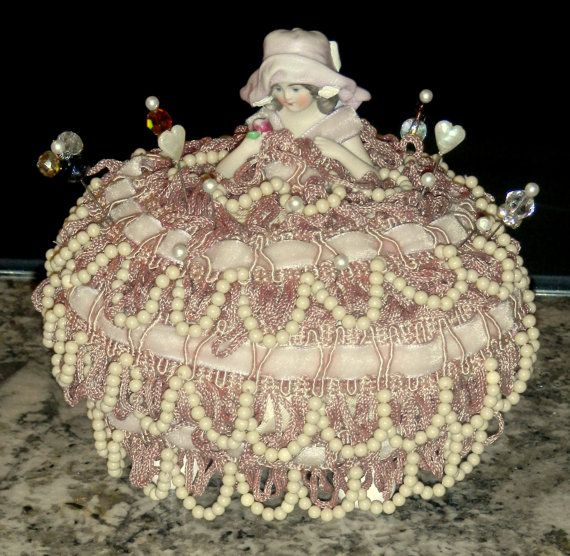 Chrissy Southern Belle Classy Pincushion   half doll  collectible