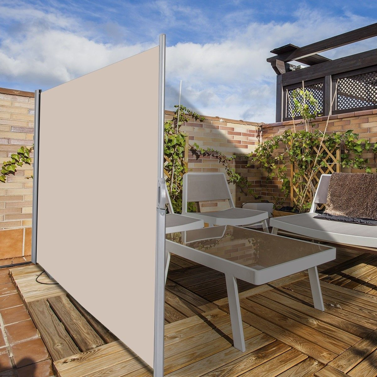 118 5 X 71 Patio Retractable Folding Side Awning Screen Patio