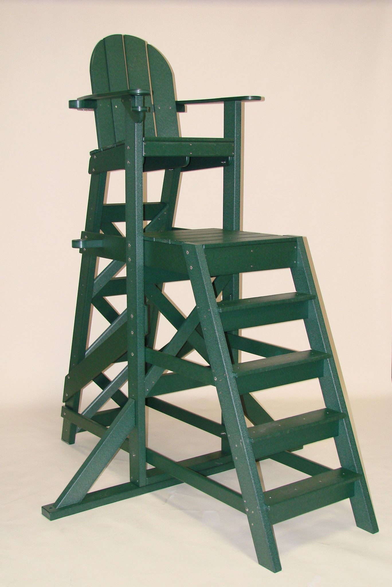Tailwind Furniture Recycled Plastic TLG535 Tall Lifeguard Chair   With  Front Ladder