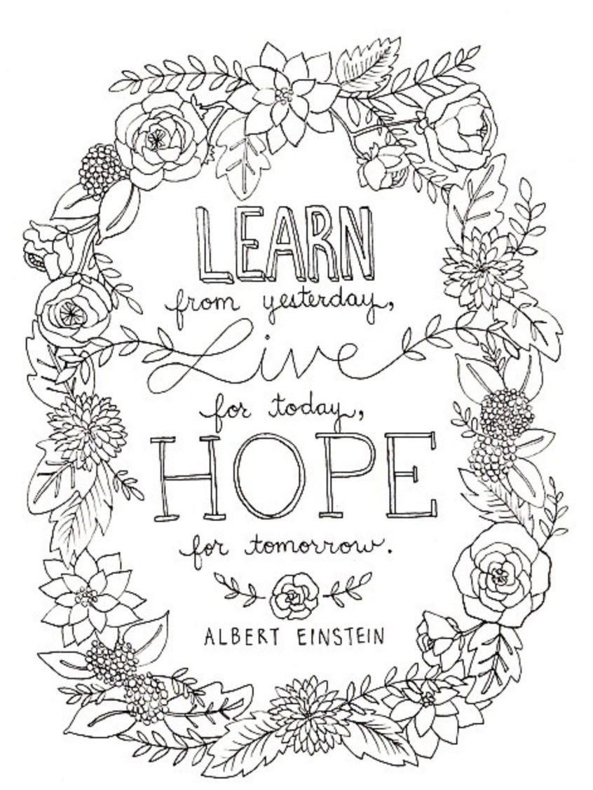 Awesome Coloring Pages Quotes Printable That You Must Know You Re