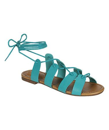 Another great find on #zulily! Aqua Indio Sandal #zulilyfinds