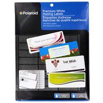 bulk polaroid premium white mailing labels 240 ct packs at