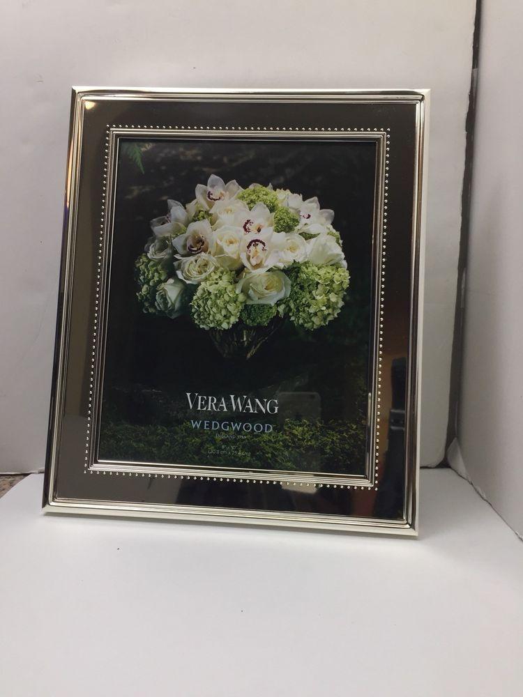 Vera Wang Wedgwood Vw Grosgrain Picture Frame 8 X 10 Nib Great Gift