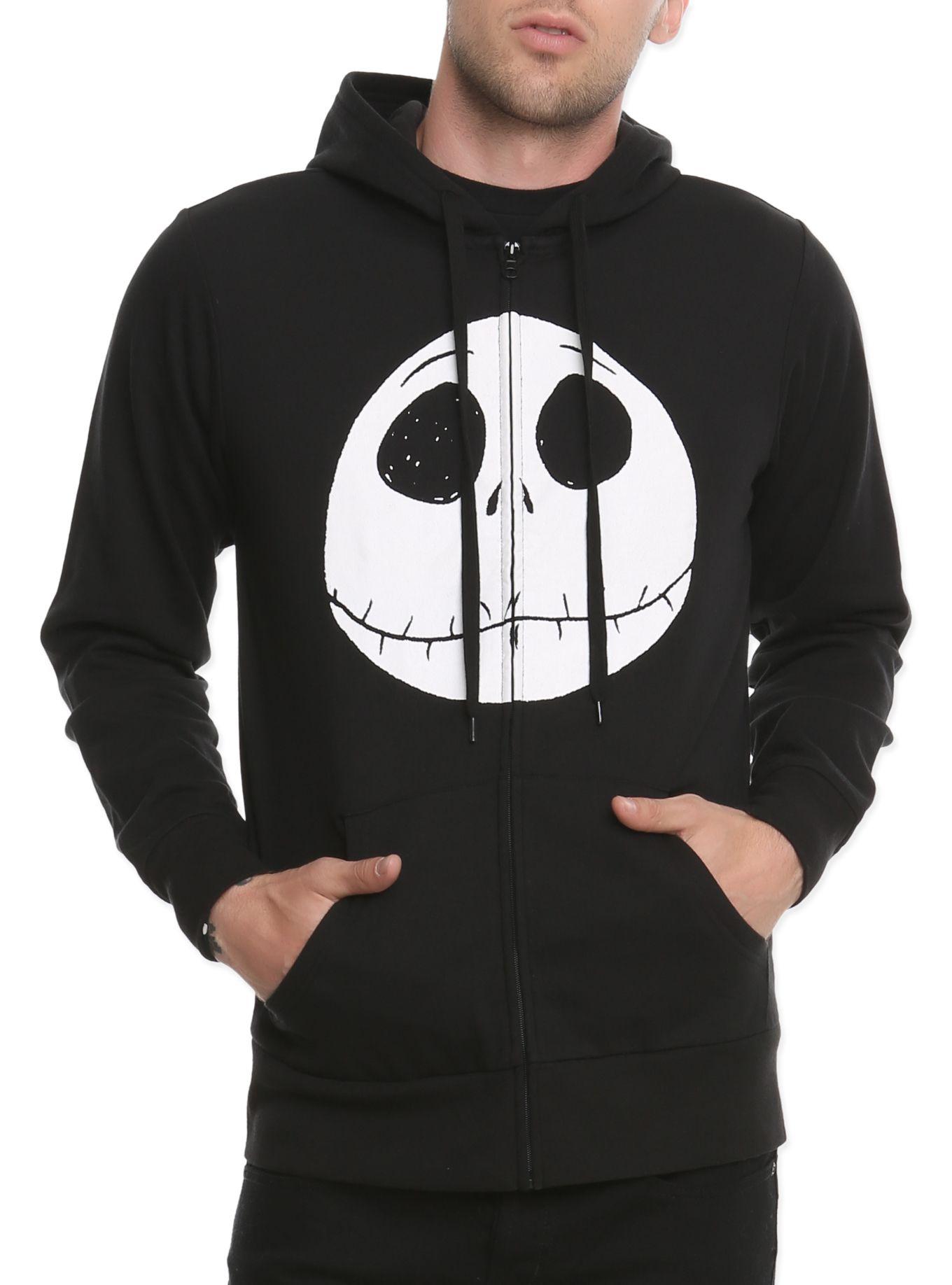 Black zip hoodie from The Nightmare Before Christmas with Jack\'s ...