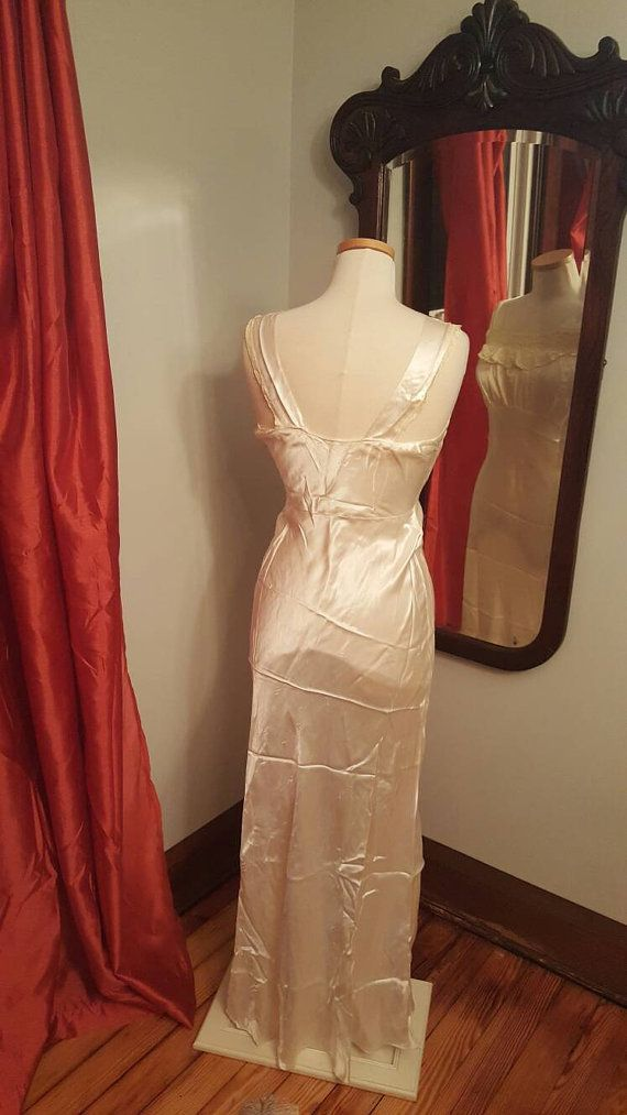 1930er Jahren 30er 30's Wedding Gown von BackToCamelotVintage