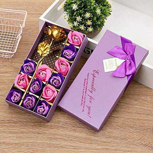 Txyk Romantische Geschenke 12pcs Soap Rose Und 24k Goldfolie Rose