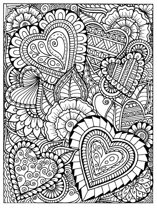 Цветы сердечки - Узоры | Раскраски, Узоры, Цветы