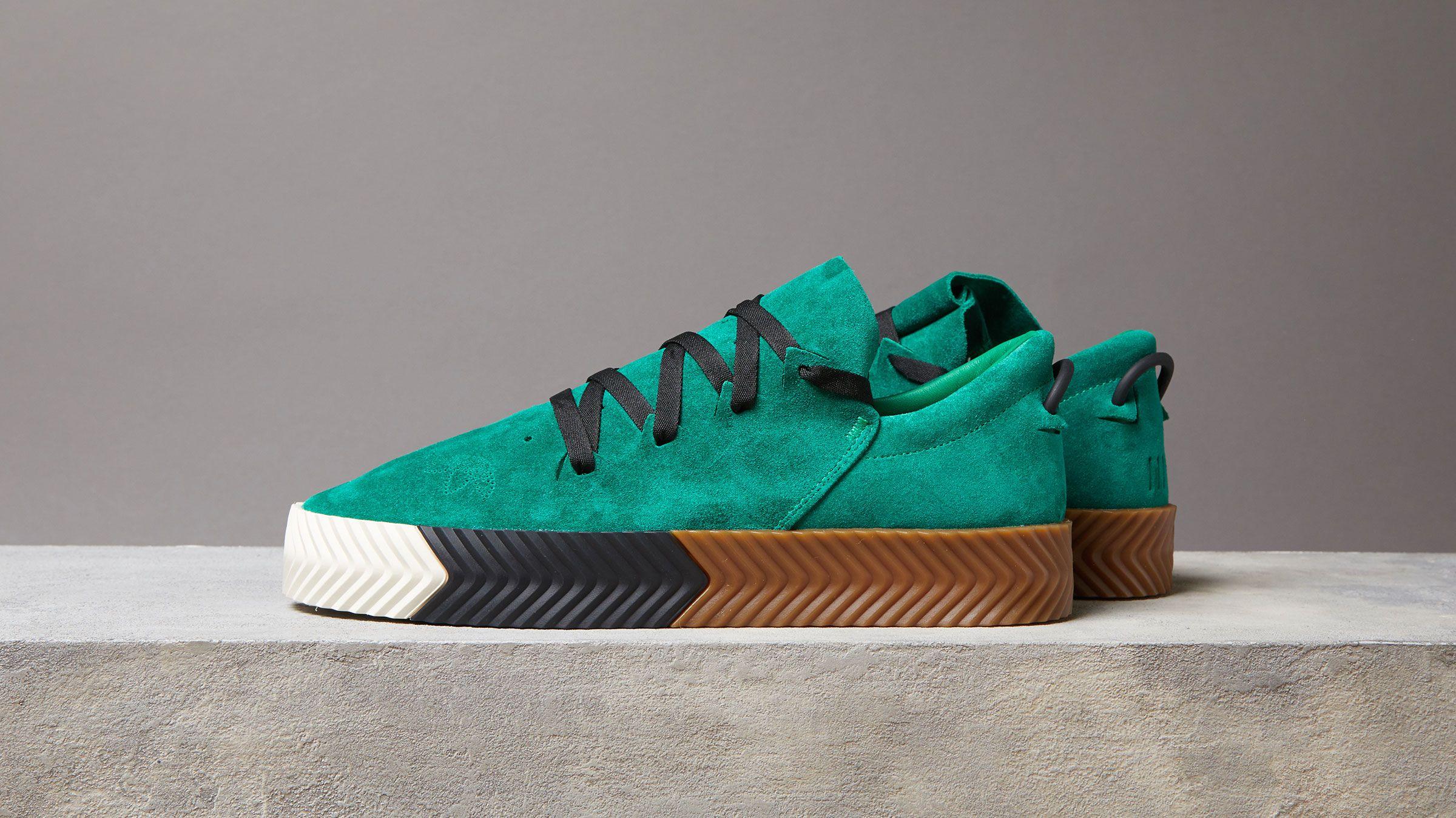 size 40 5f7f8 83f25 Adidas x Alexander Wang Skate Green Adidas Inside Sneakers
