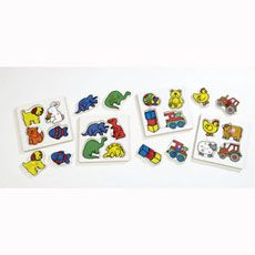 An ideal #group set of 4 piece puzzles. Each #puzzle is made from #durable MDF and has a large coloured peg which #matches the puzzle piece. #british #england #derby #madeinengland #madeinbritain