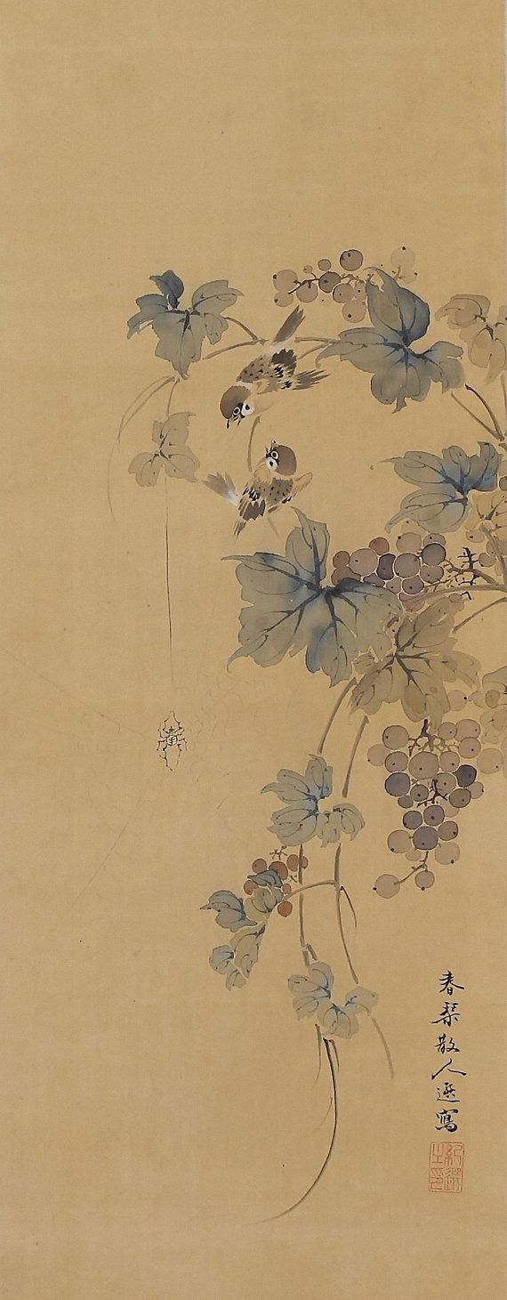 traditional japanese scroll art - Google Search | Sumi-e in 2018 ...