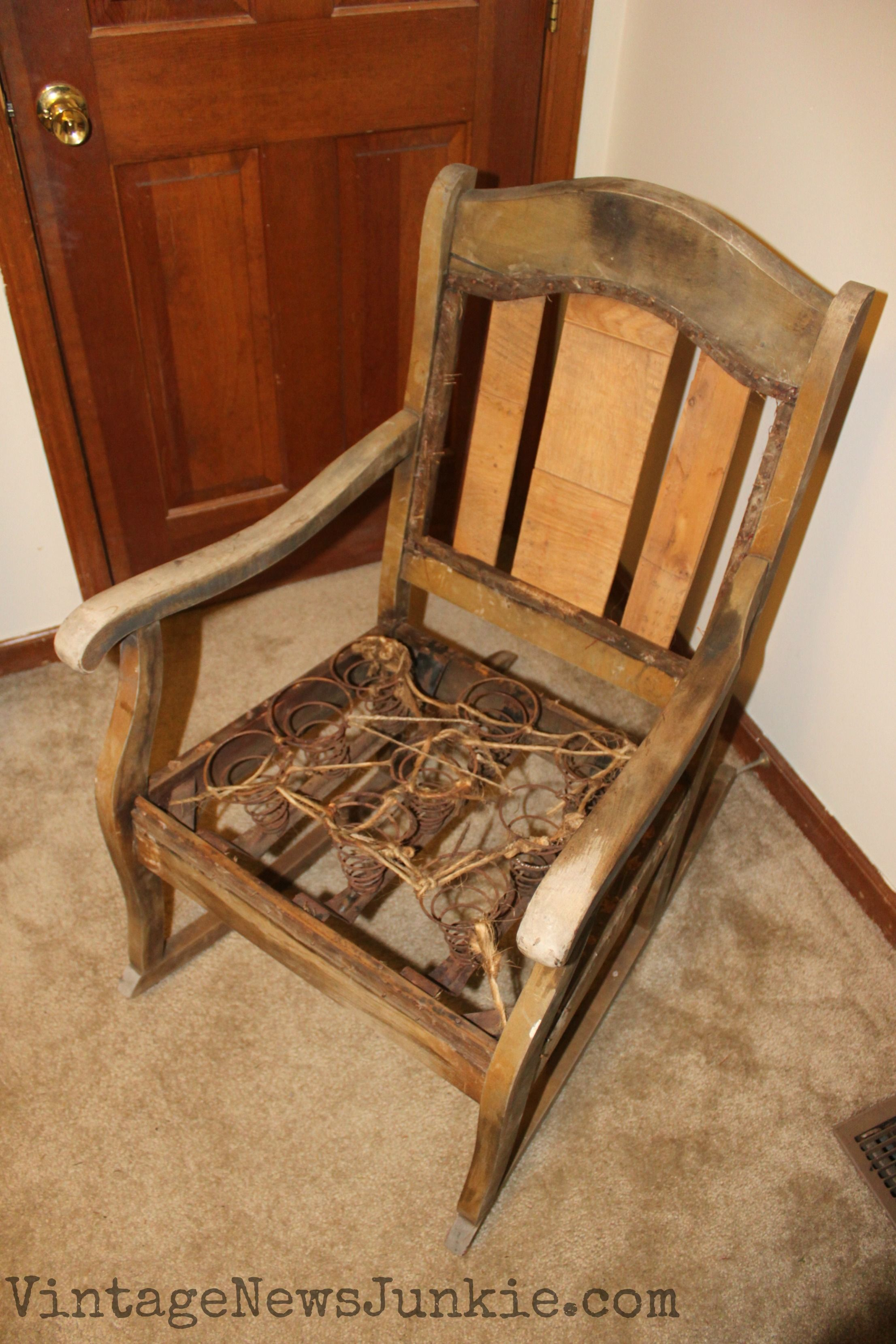 The Rescued Rocking Chair How To Reupholster A Chair