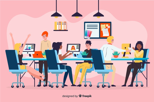 Download Illustration Of People Working Together For Free Vector Illustration People People Working Together Illustration