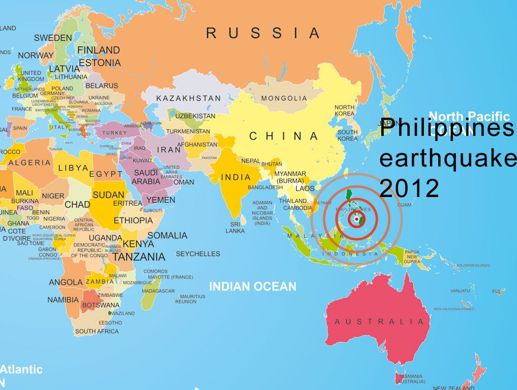 philippines | Philippines Earthquake 2012 | World map | Phone me N ...