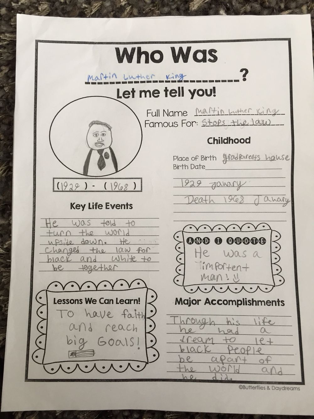 medium resolution of Who Was...? Biography Project