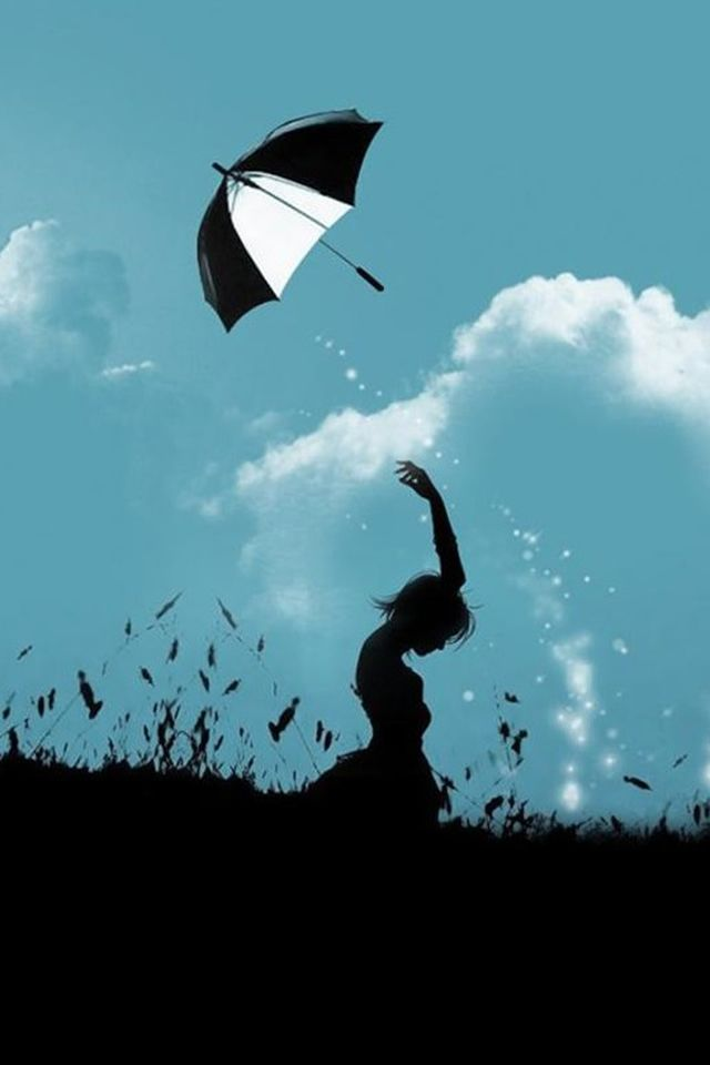 Hill Umbrella Throw At Cloudy Sky Aesthetic Art Iphone 4s Wallpaper Download Iphone Wallpapers Ipad Wallpap Sky Aesthetic Aesthetic Wallpapers Aesthetic Art