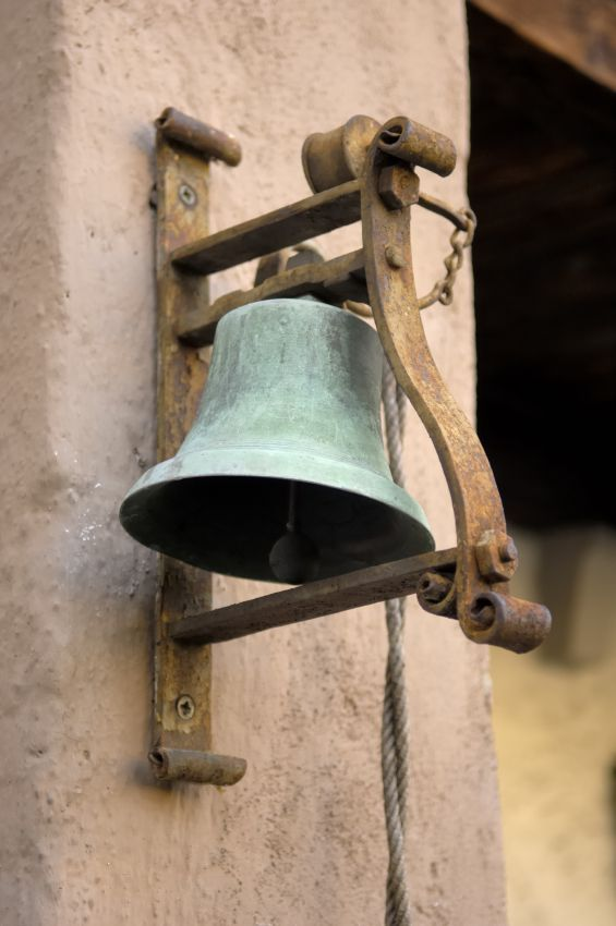 This is a doorbell from the 1800's. Jean refers to the bell stating that it is not just a bell to him, but a symbol of the freedom he doesn't have.