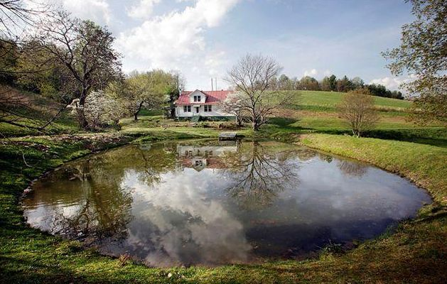 This is our ol country house in our own little holler for Sunfish in a backyard pond