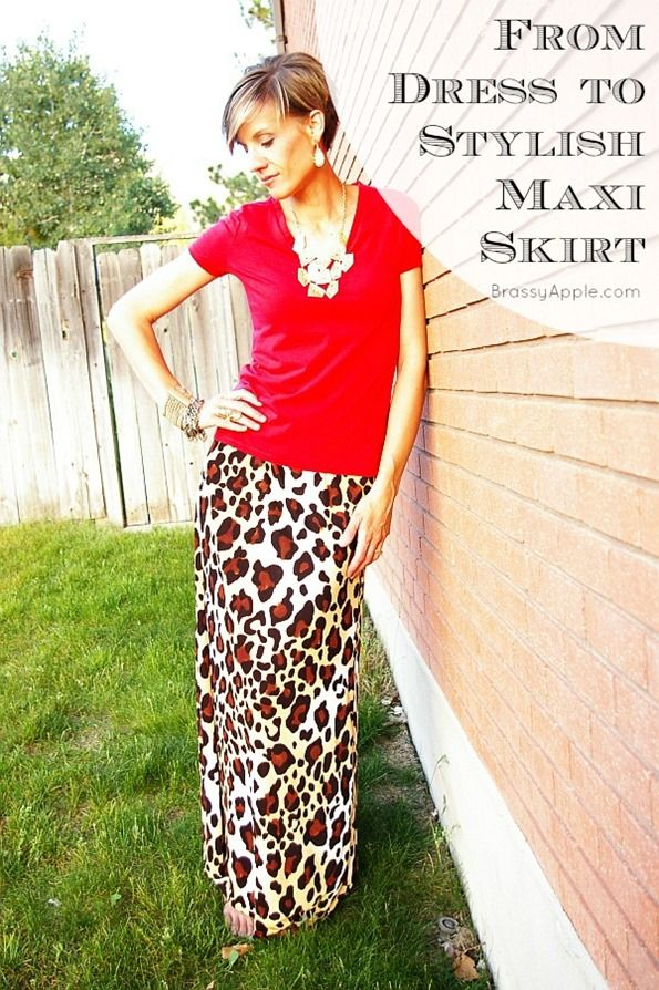 How to make a maxi dress into a maxi skirt