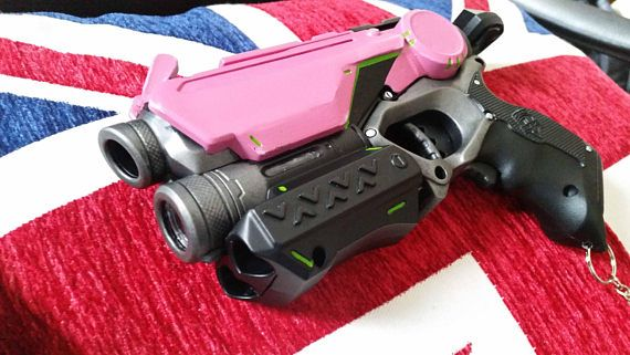 Overwatch Videogame Inspired Pink Cosplay / Collectible Nerf Pistol with  raised front sights - Still fires