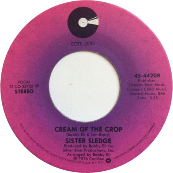 Sister Sledge Cream Of The Crop Vinyl 7 In 2020 Sister Sledge Music For Kids Sisters