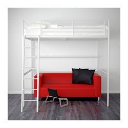 Hochbett ikea tromsö  IKEA - TROMSÖ, Loft bed frame, , The ladder can mount on the left ...