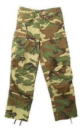 Military M-65 Field Pants Vintage Camouflage Vintage Paratrooper Fatigues $41.61
