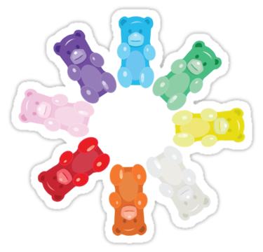 Gummy Bear Circle Sticker By Underwatercity Bubble Stickers Homemade Stickers Hydroflask Stickers