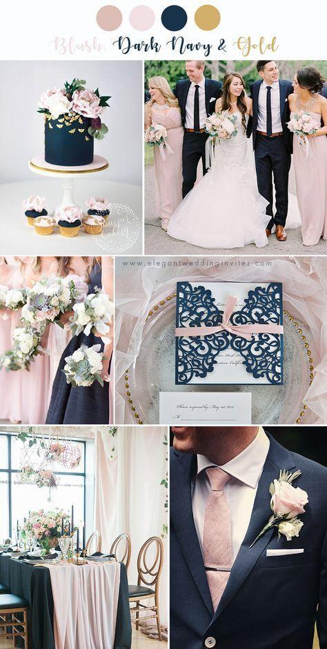 7 prachtige bruiloft kleurenpaletten met roze blos, #