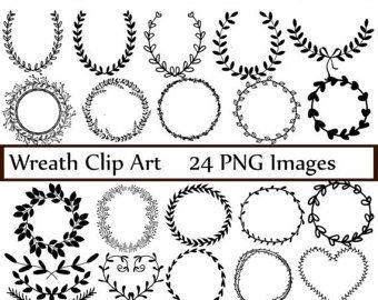 Hand Drawn Laurel Wreath Clip Art Images Vector And Photoshop Brushes Illustraties Lauwerkrans Handen Tekenen