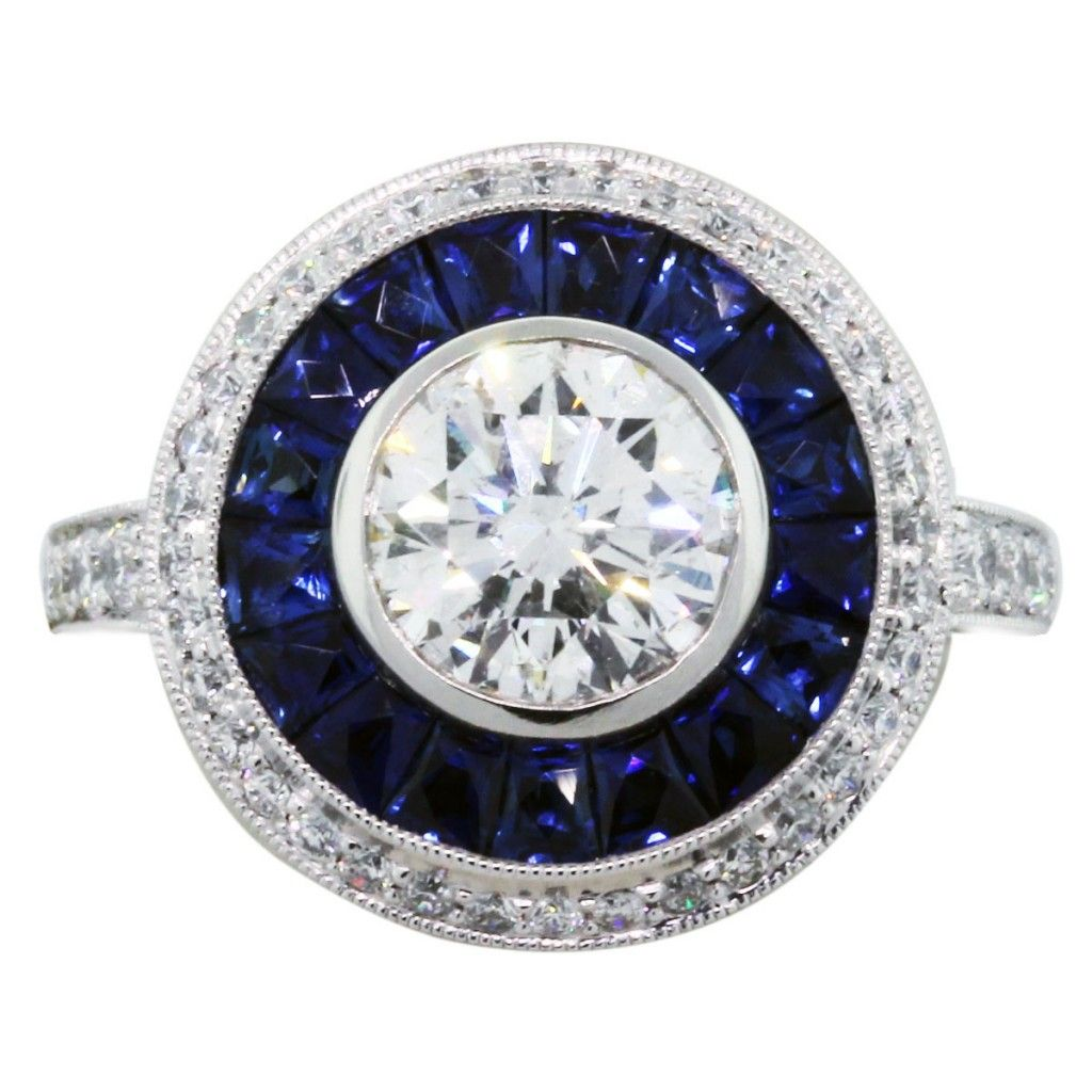 Who Keeps the Engagement Ring Halo rings Sapphire and Ring