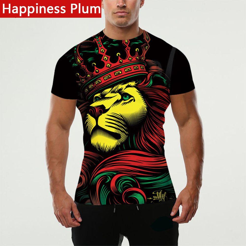 9b509112 mens haircut Happiness Plum Rasta Clothing Rasta T Shirt Men Shirt Lion  King Tee Style 3d Printed T-shirts Anime Funny Clothes Brand Male *** This  is an ...