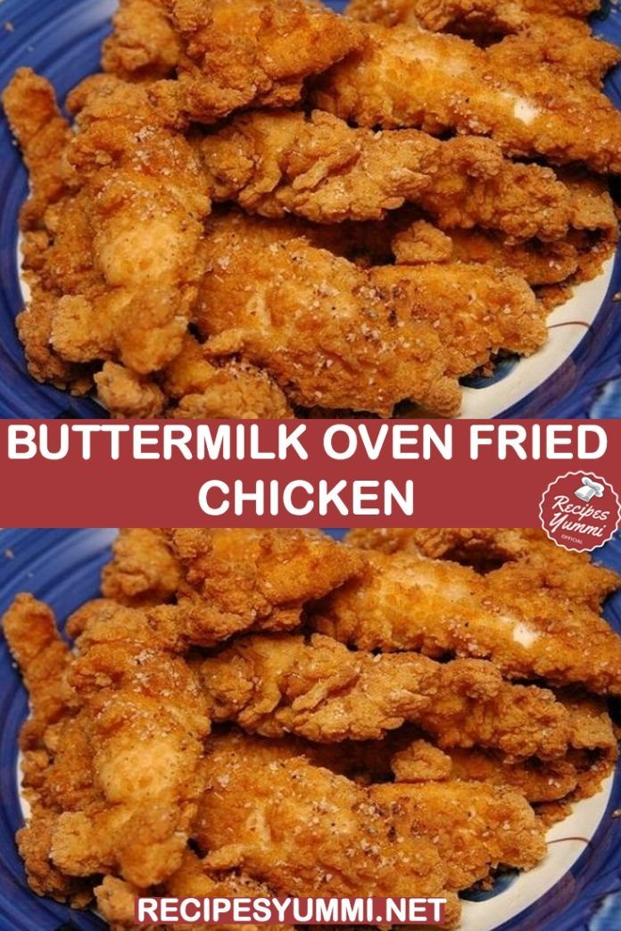 Crispy Spicy Fried Chicken Recipe In 2020 Buttermilk Oven Fried Chicken Fried Chicken Recipes Oven Fried Chicken Recipes