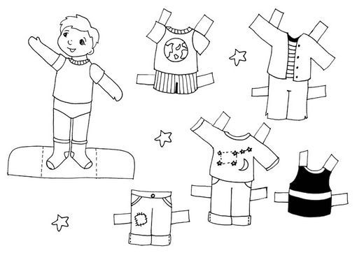 Nen Senyalant Paper Dolls Dolls Black And White