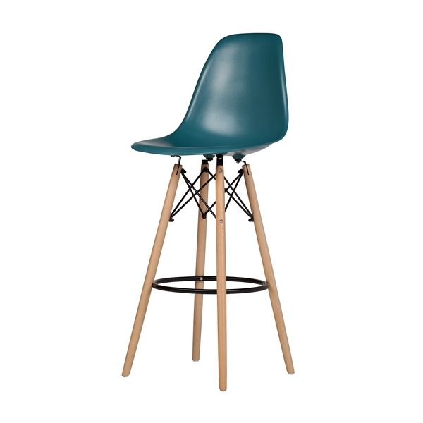 Charles Eames Style Dsw Bar Stool Teal Blue Austin Furniture