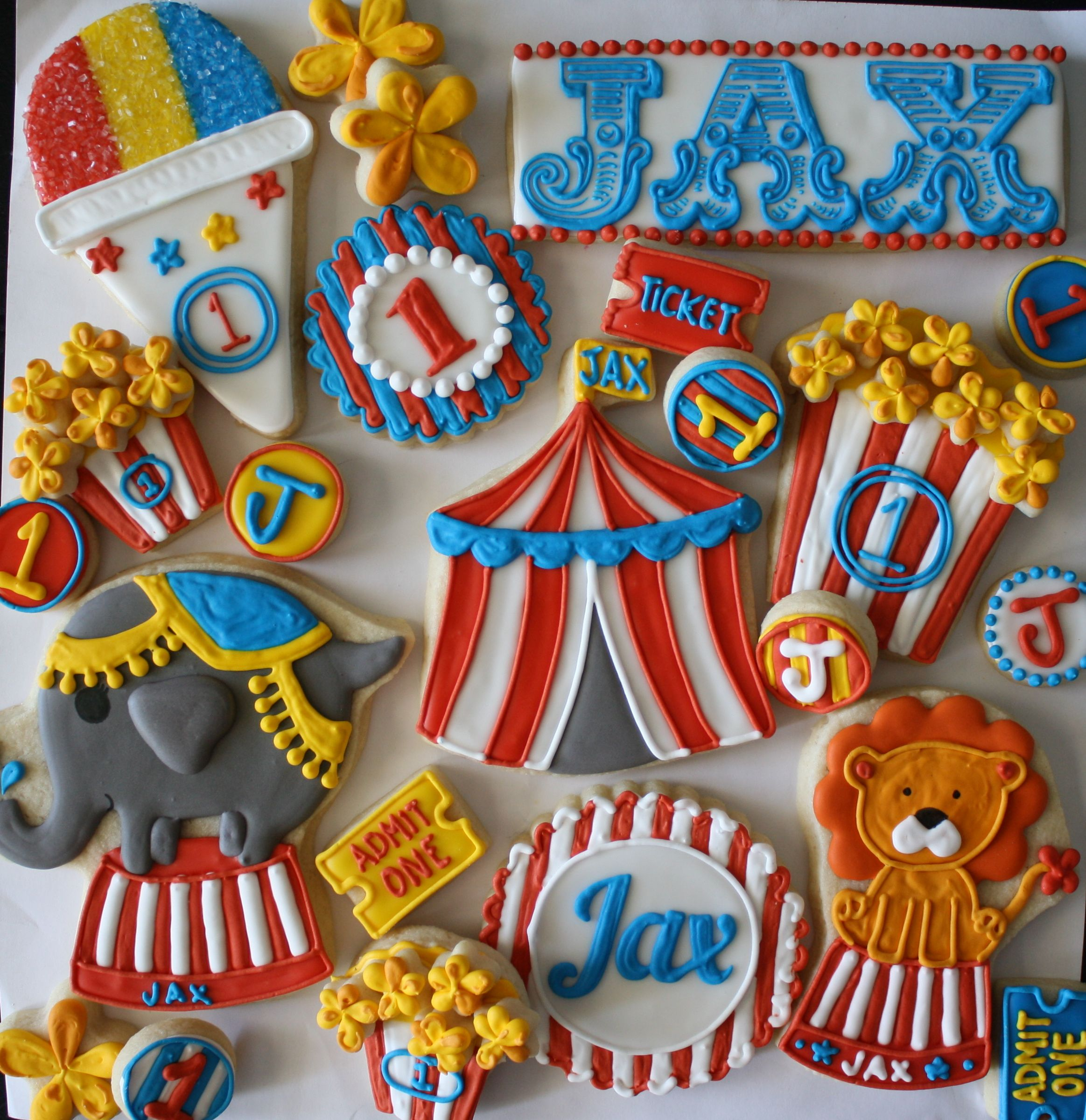 Carnival Party Cookies Done in felt would be cute FeltCookies