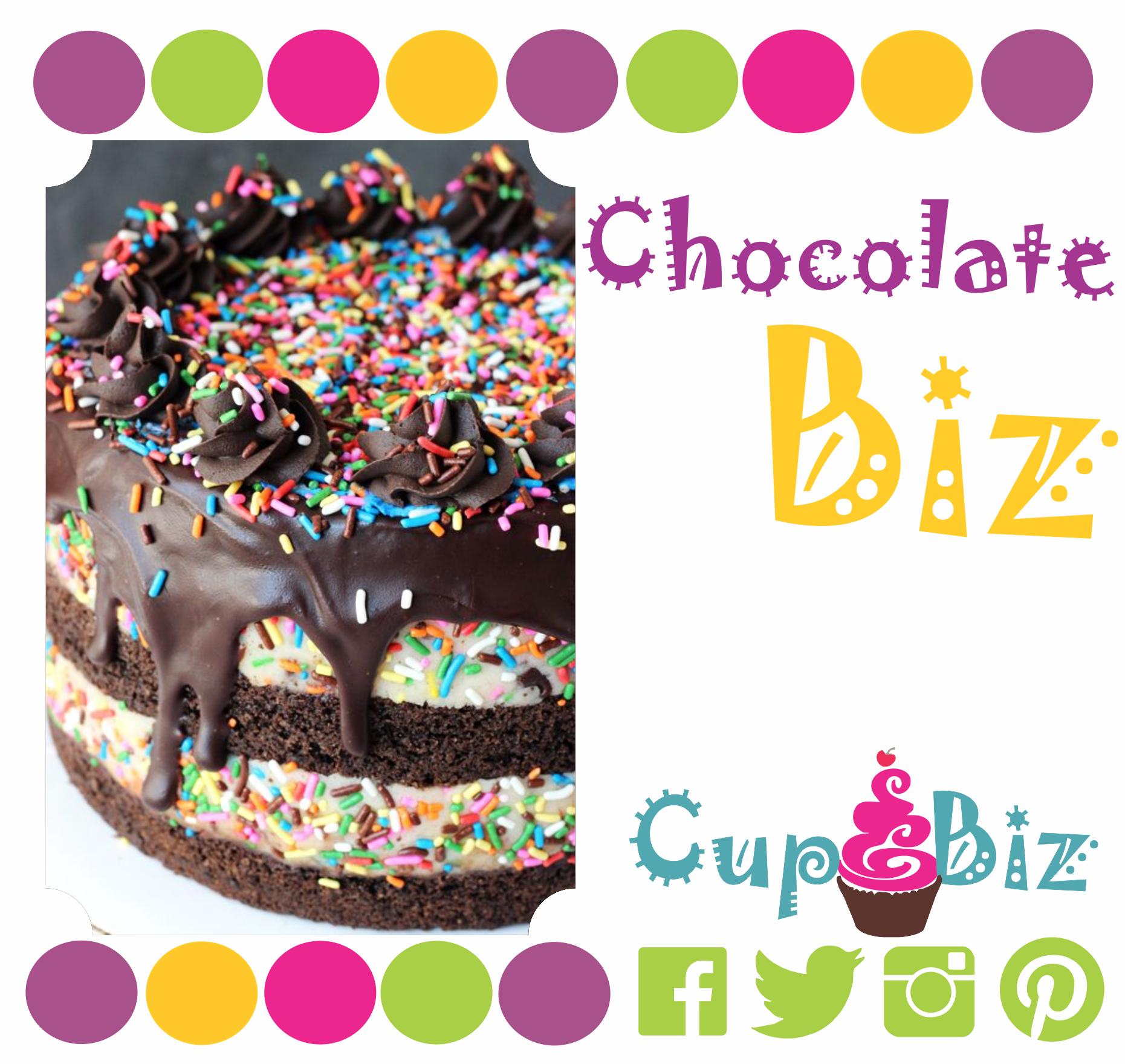 Chocolate Biz, sabroso ponque de chocolate, topping de merengue suizo y lluvias de colores | #CupBiz