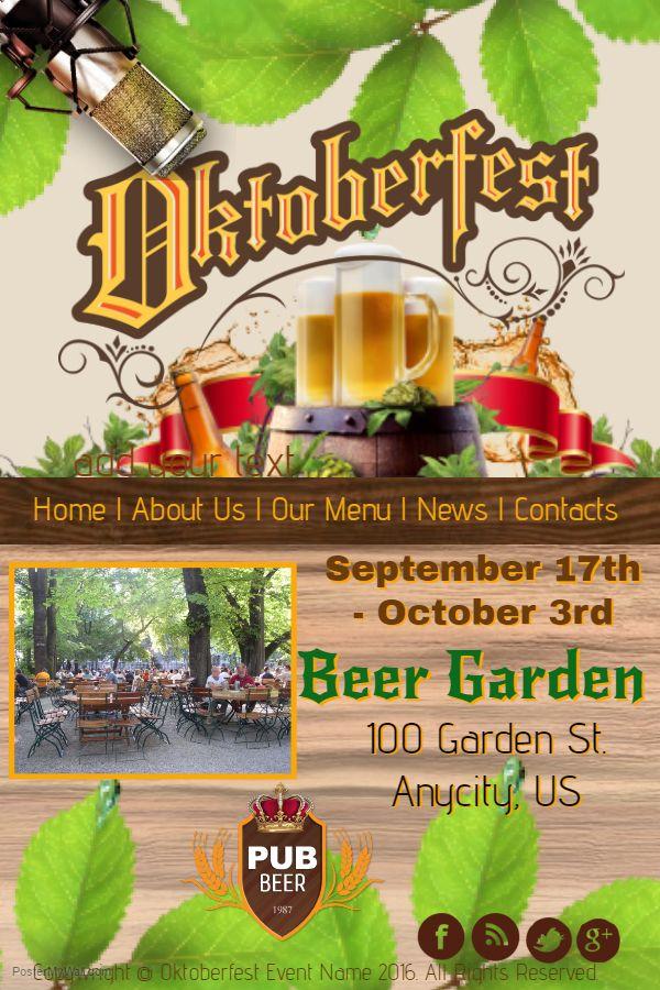 Oktoberfest flyer template design.