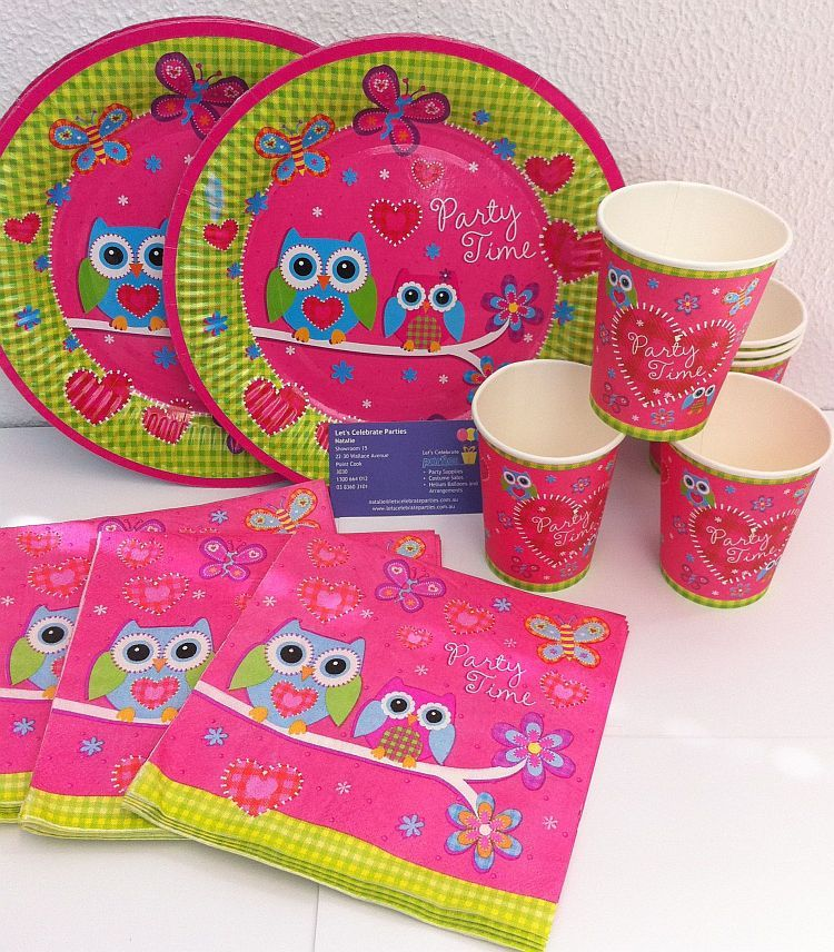 OWL PARTY PACKS 24 piece pack OWL PARTY SUPPLIES Owl party