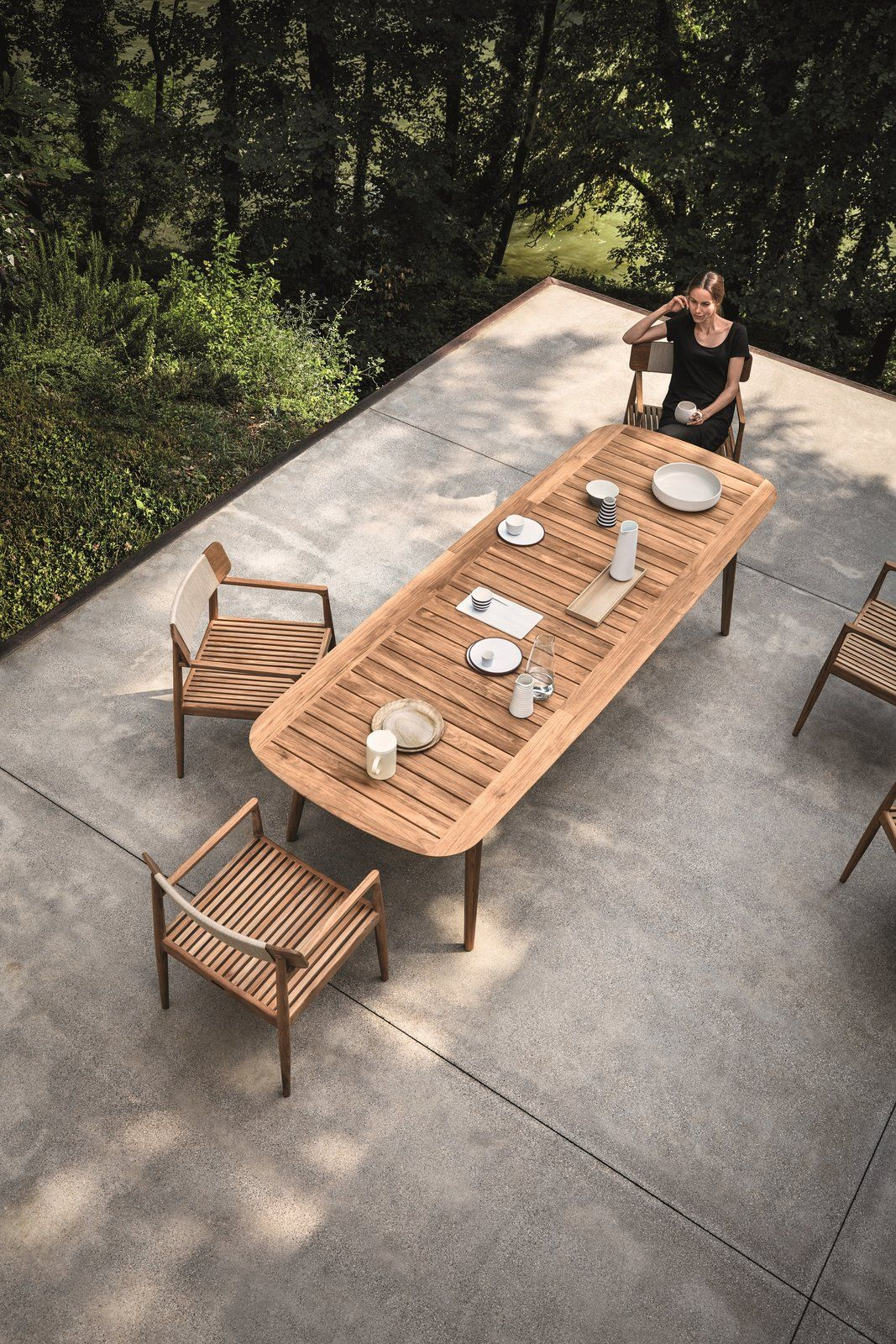 This Teak Outdoor Living Collection Pairs Sustainability And