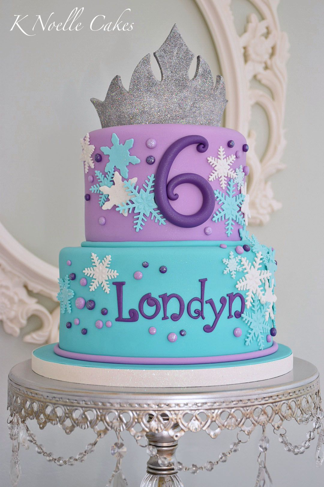 Frozen Theme Cake By K Noelle Cakes